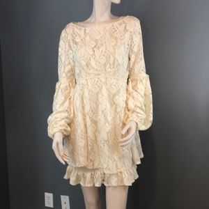 NWT Free People Lace Baby Doll Dress
